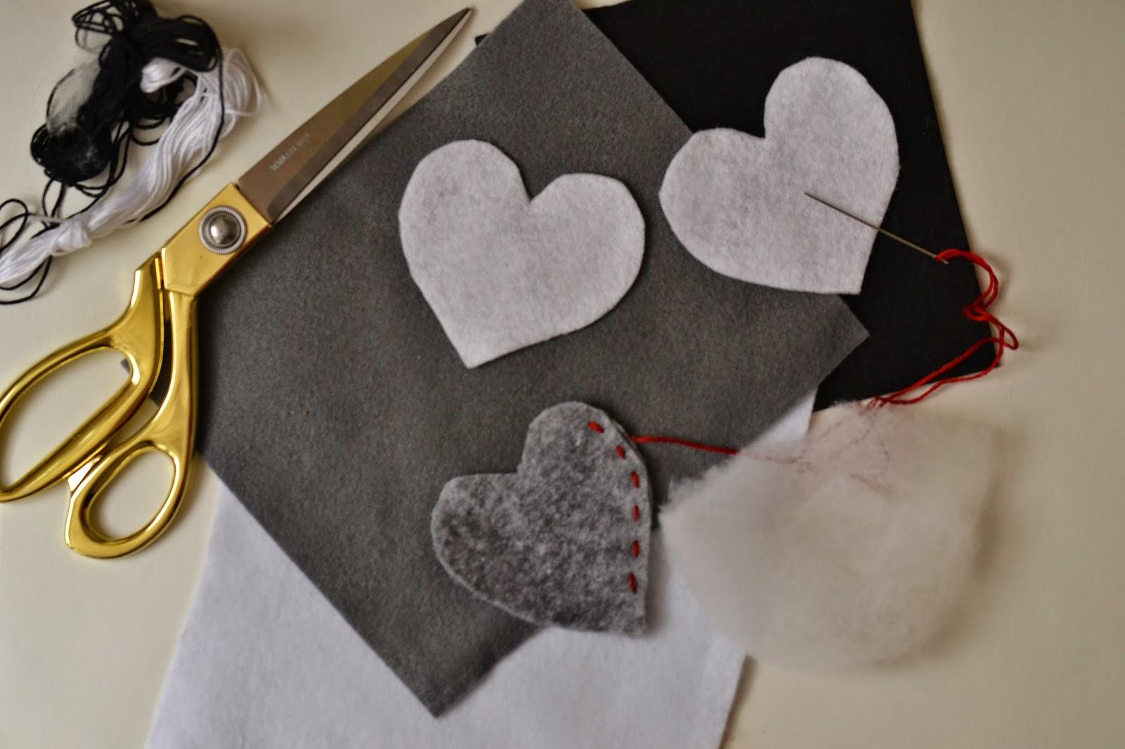 Walentynka z filcu, DIY