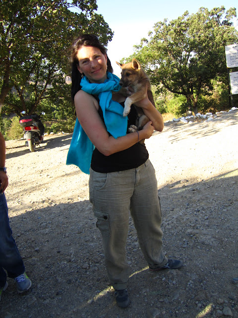 Me holding a puppy in Turkey.
