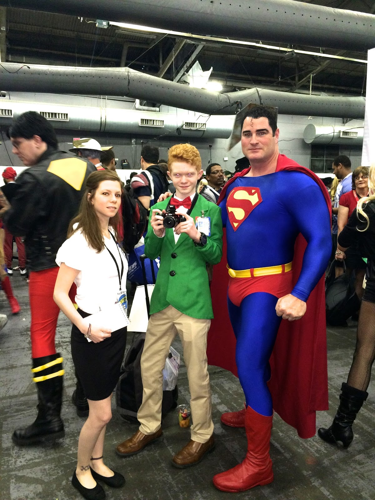 Special Edition NYC Superman characters Lois Lane cosplay Jimmy Olsen