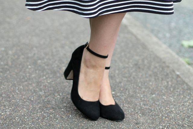 ASOS Summer back suedette ankle strap heels
