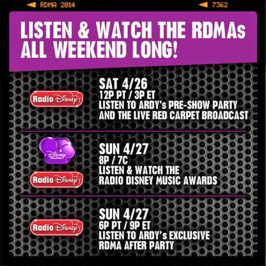 The 2014 Radio Disney Music Awards Live Event Stream On Air