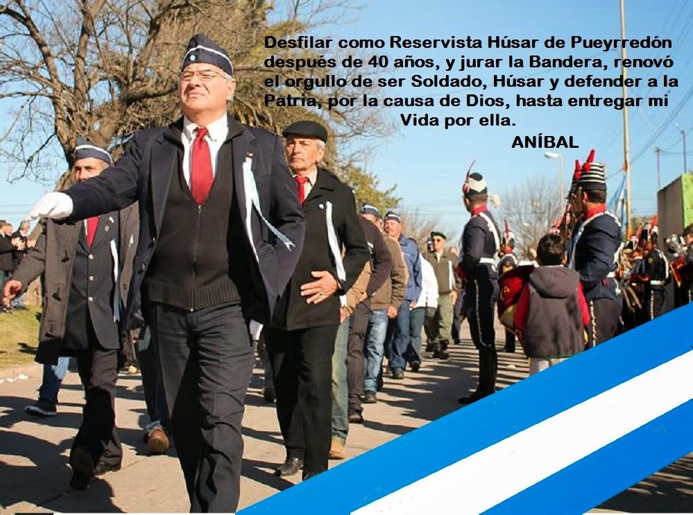 Desfile Reservista en Azul Día de la Bandera 20/6/2014