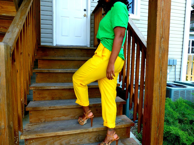 thrift the trends yellow pants