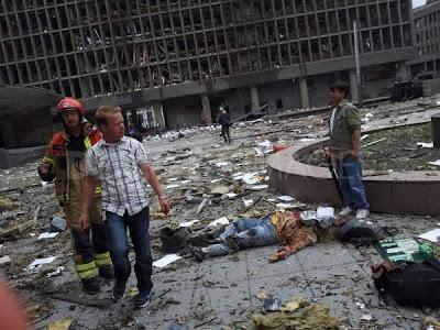 foto de muerto en explosión en oslo noruega