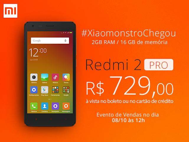 Comprar Xiaomi Redmi 2 PRO - Preço e informações tecnicas