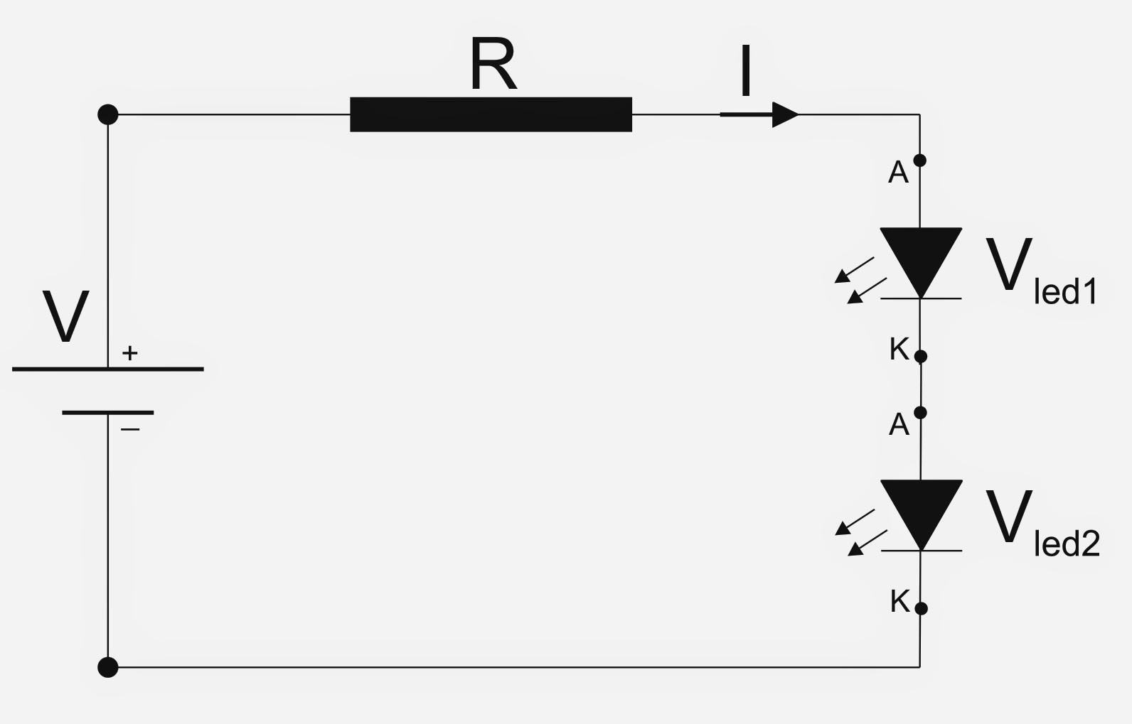 Circuito En Serie : Maquetas modelos calculo de resistencias para circuitos con led