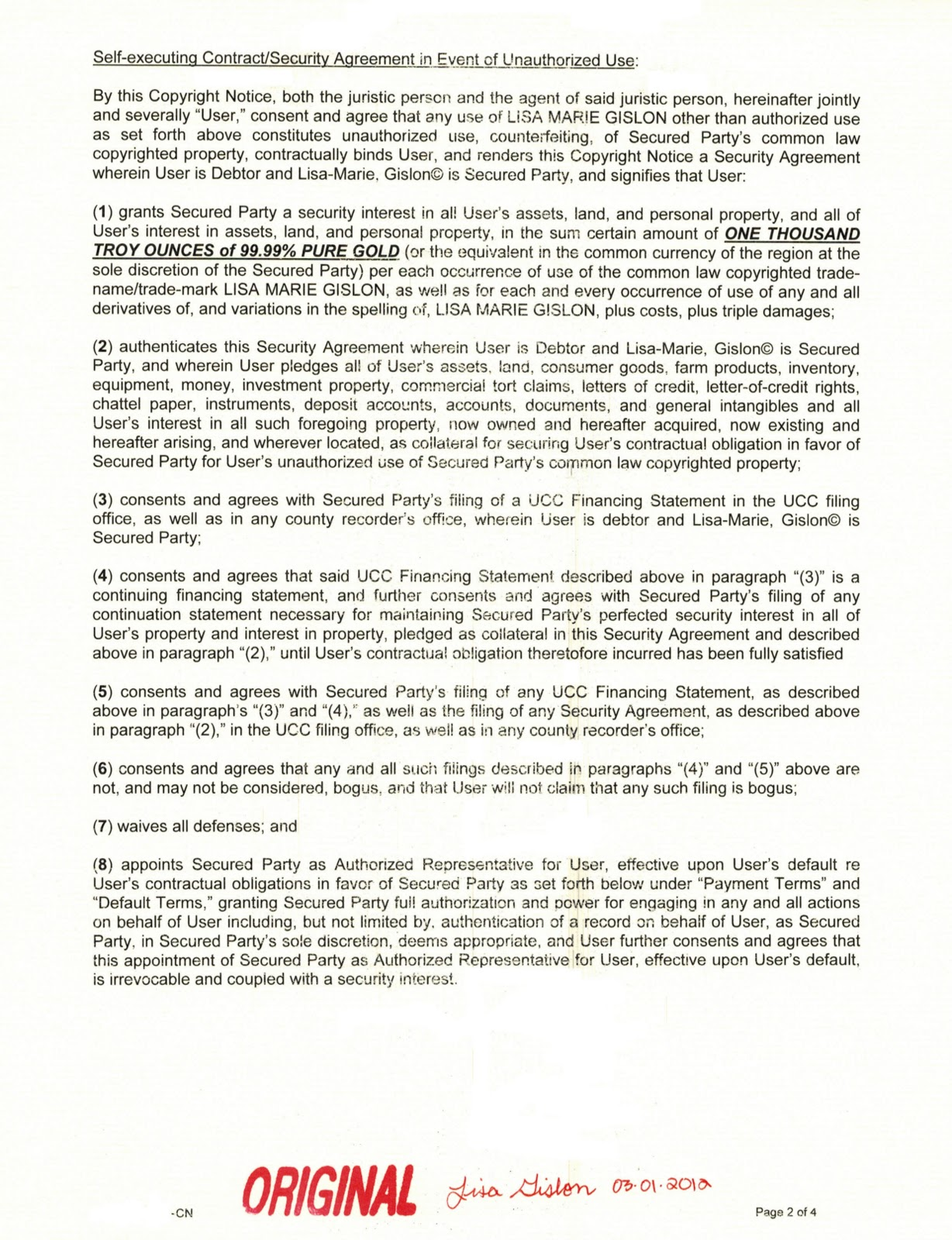 Security agreement ucc images agreement letter format ucc security agreement image collections agreement letter format atlas 2010 freed lisa marie gislons copyright part platinumwayz