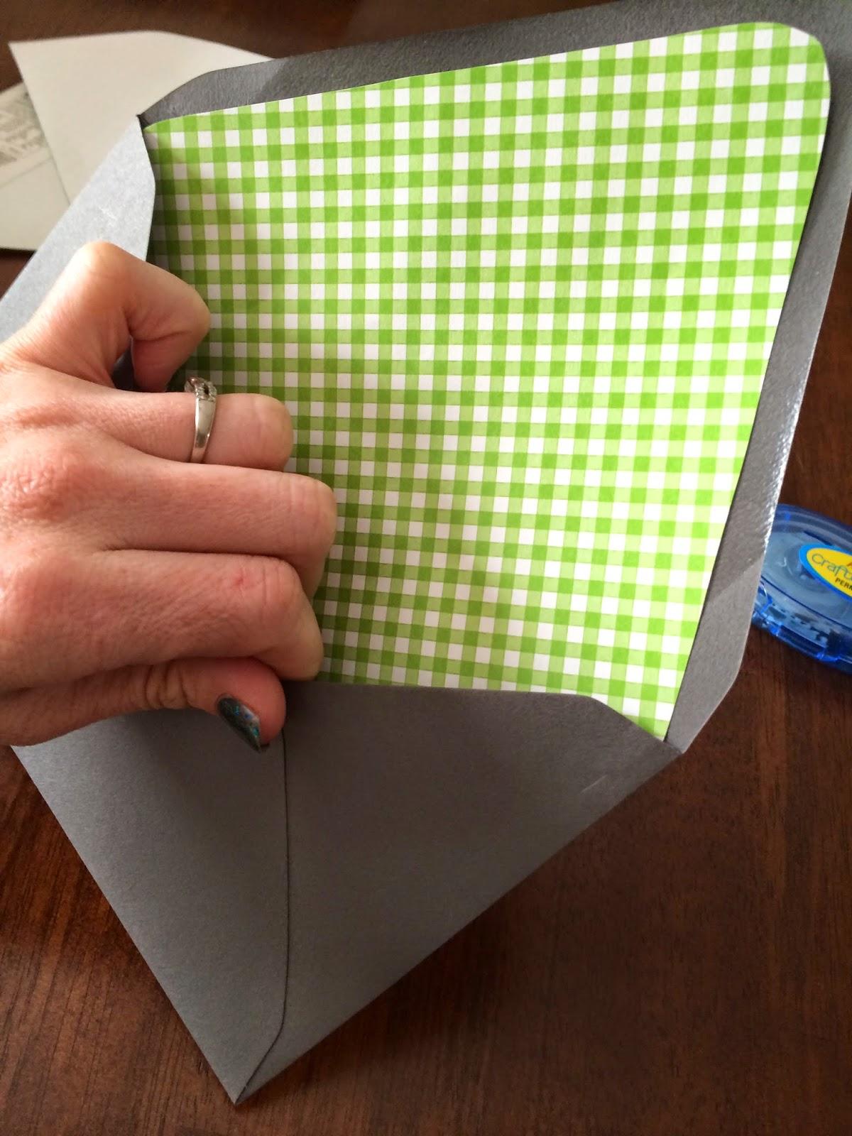 Doeblerghini Bunch:  Envelope Liner - Liner sliding into envelope