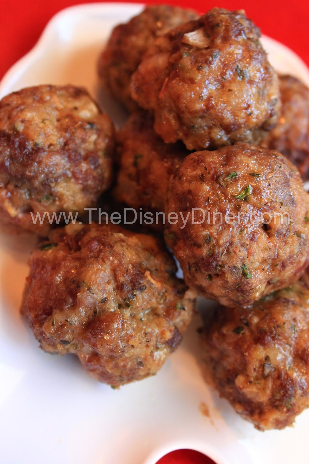 The Disney Diner: Italian Meatballs Recipe from Tony's Town Square ...