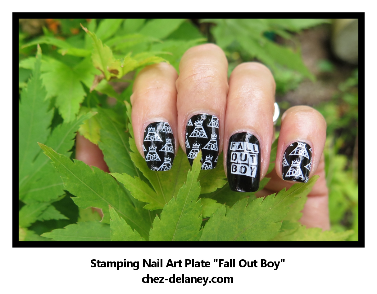 FALL OUT BOY - la plaque speciale stamping nail art - édition ...