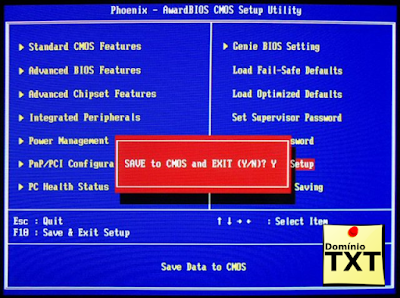 DominioTXT - BIOS Sair e Salvar