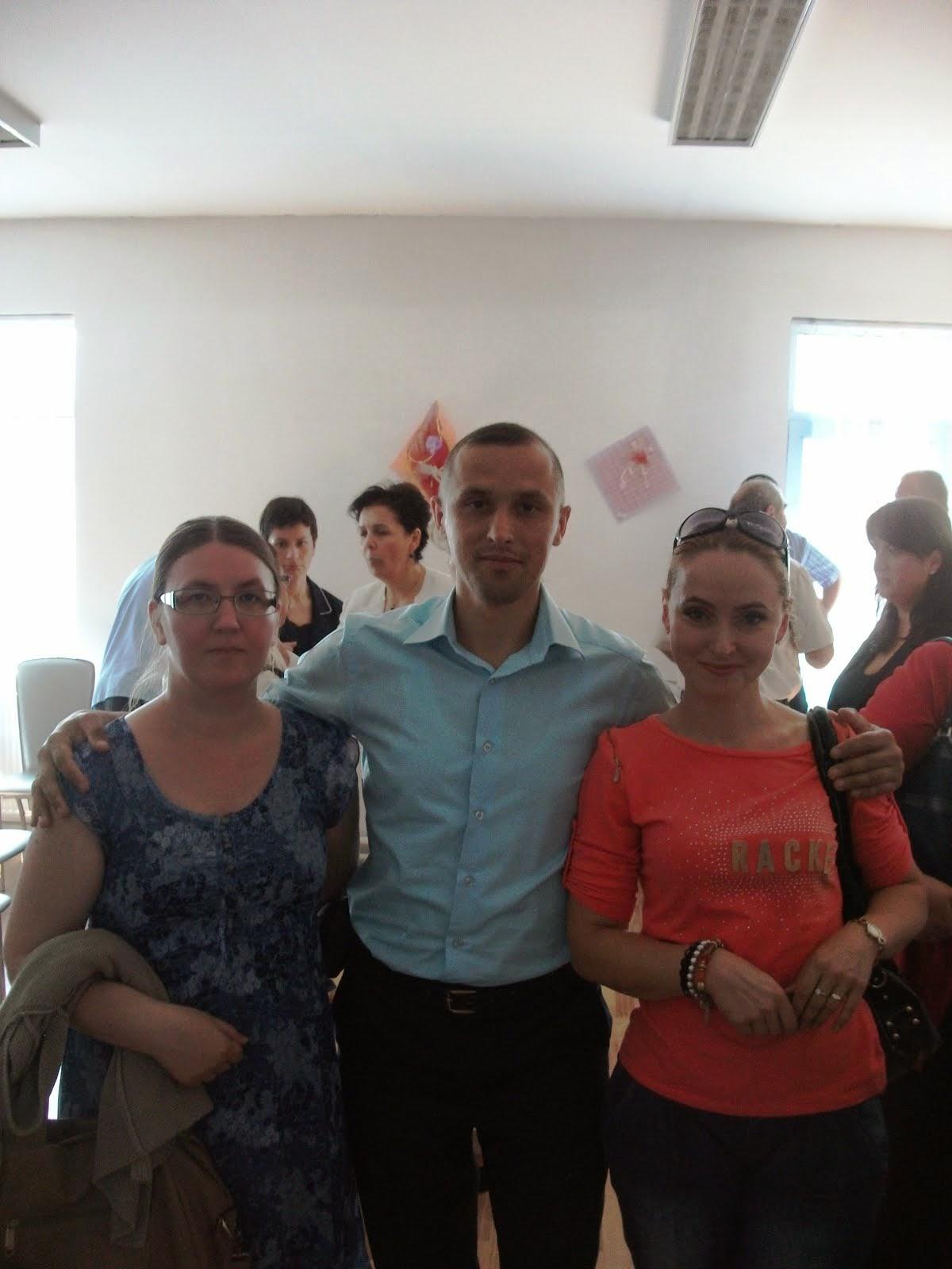 Alături de colegele de facultate Gabriela Azamfiri şi Alina Istrate, 12.09.2014...