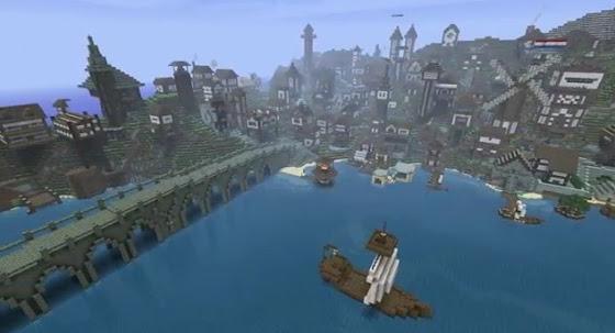 Ville Lac Minecraft