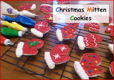 Christmas Mitten Cookies, Sugar cookies, christmas cookies
