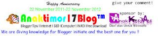 Ulang Tahun Pertama Anaktimor17 Blog , Bonus Ebook Rahasia Master SEO Gratis