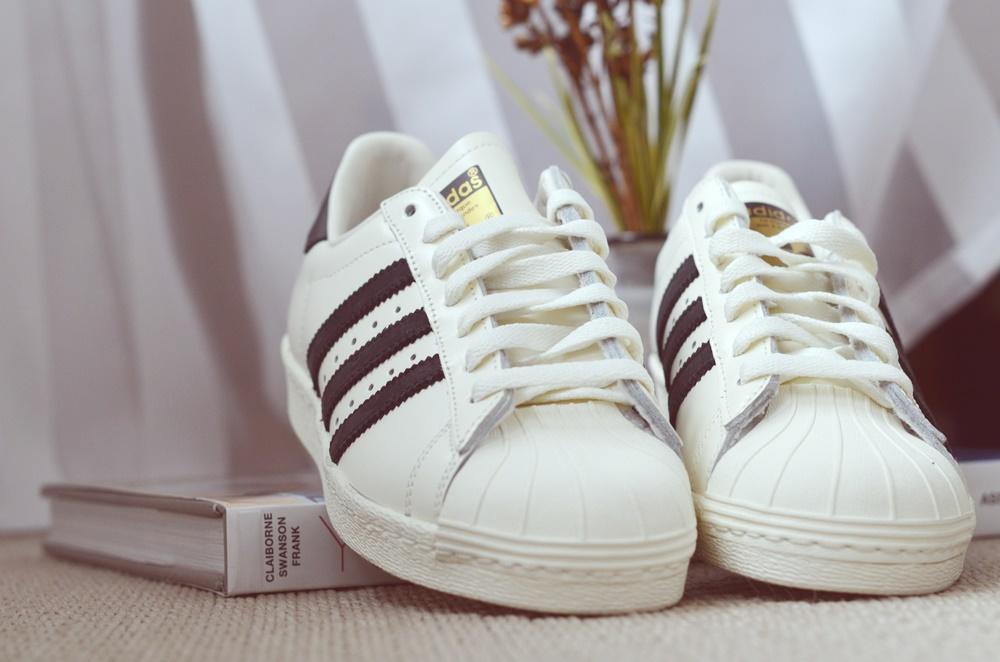 Adidas Superstar Weinrot Streifen