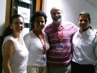 De Izq. a Der.: Marcela Navarrete, Irene Ayala, Roberto Behar, Angelo Hernández