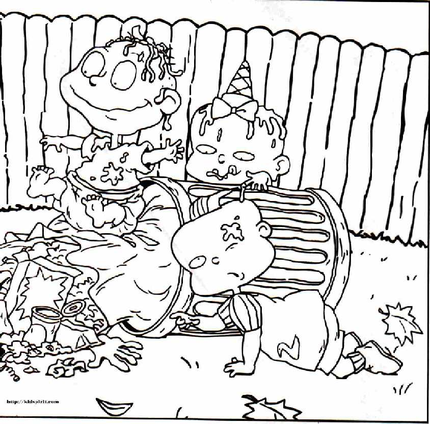 free printable rugrats coloring pages - Rugrats Characters Coloring Pages