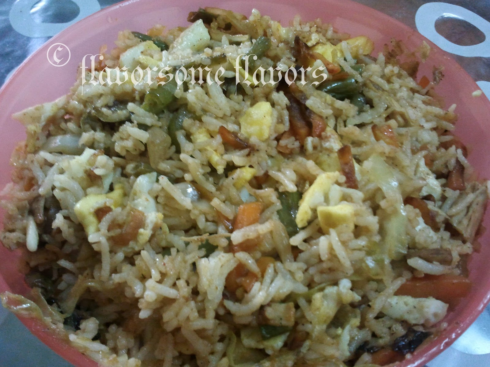 how to make fried rice without eggs and soy sauce