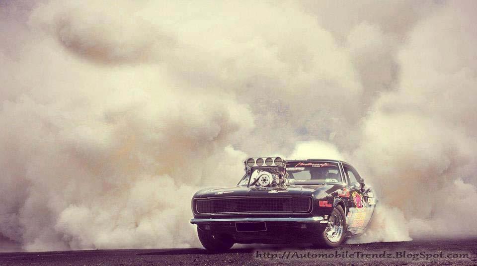 Muscle Car Burnout Wallpaper American Car Show