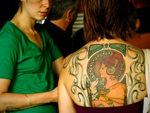 Drops of jupiter tattoo tuesday for Back mural tattoos