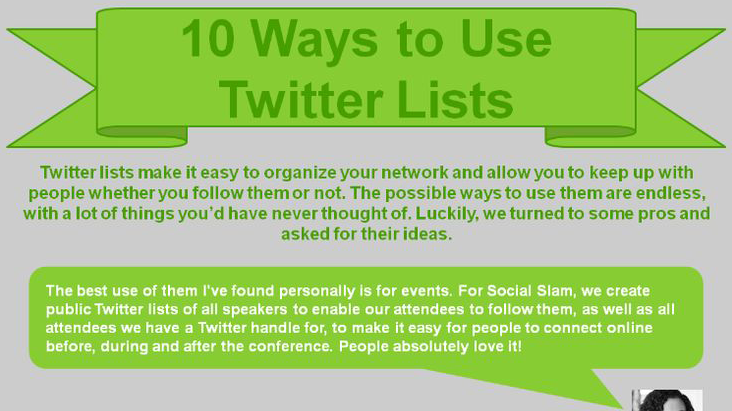 10 Ways to use Twitter Lists