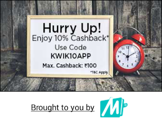 Mobikwik KWIK10APP Promo Code