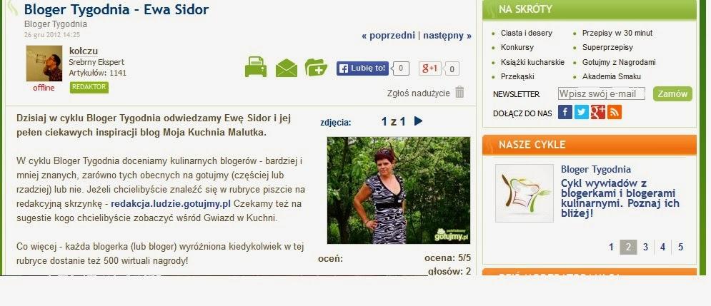 Mojakuchniamalutka I Reszta Domu Bloger Tygodnia Portalu