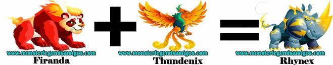 como obtener el monstruo rhynex en monster legends formula 4
