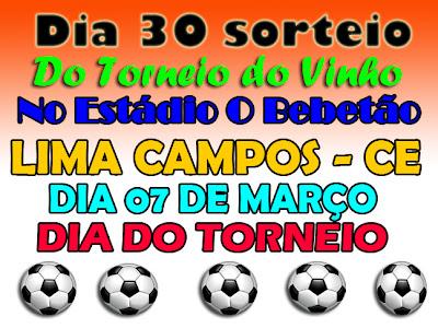 TORNEIO DO VINHO EM LIMA CAMPOS - CE