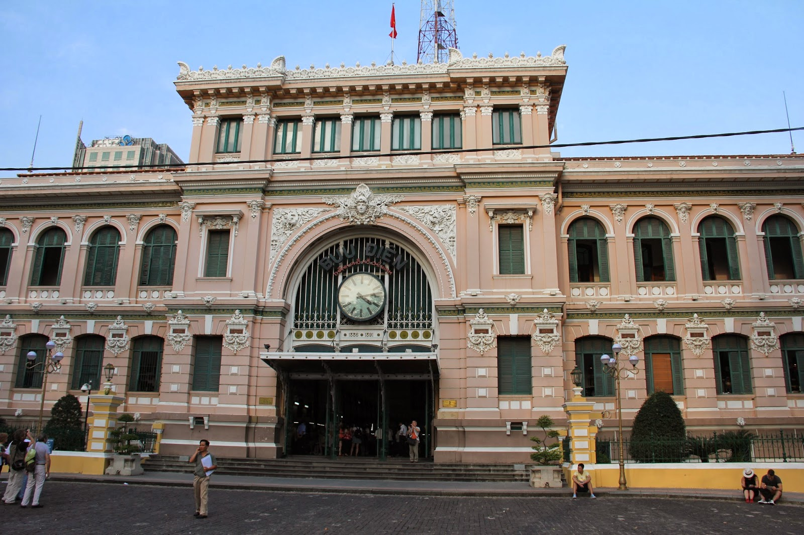 Saigon's General Post Office, a grand old colonial building by Gustave Eiffel.