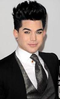 Foto del rostro de Adam Lambert en los American Music Awards 2011