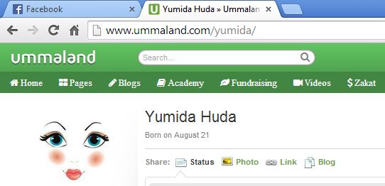 Ummaland Yumida, daftar ummaland, ummaland laman sosial islamik