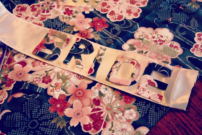 DIY Vintage Bridal Sash