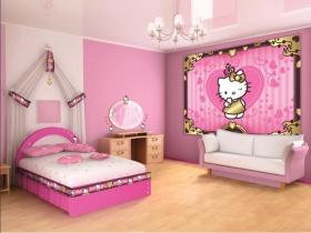 Habitaciones con hello kitty dormitorios colores y estilos for Cuarto para nina hello kitty