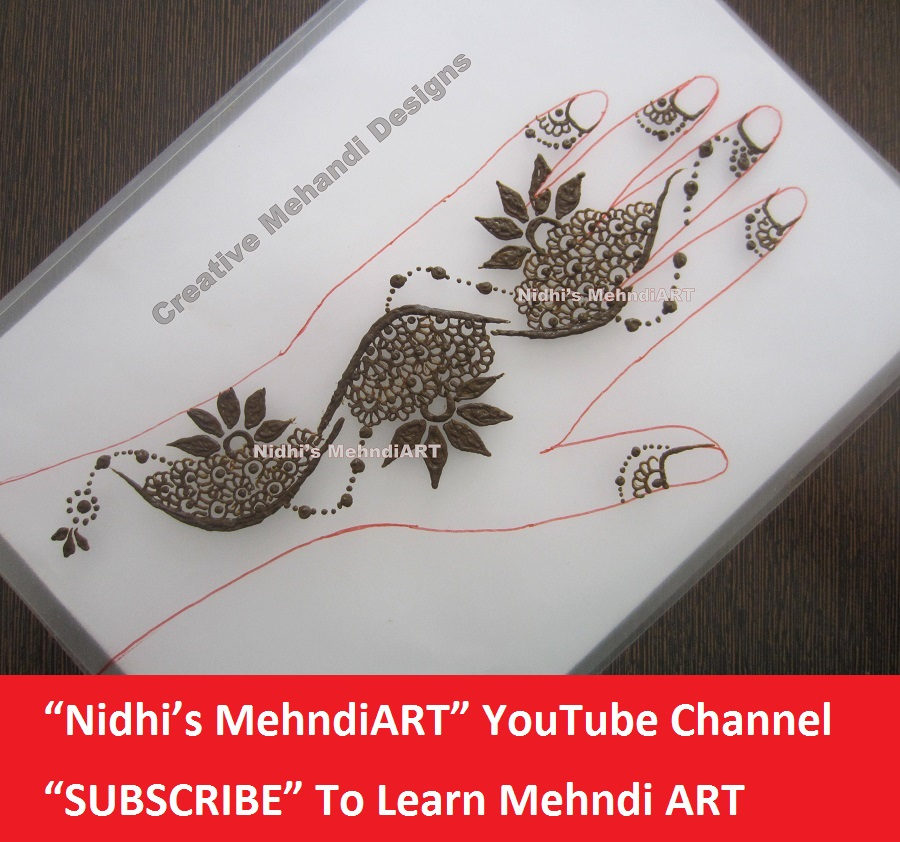 Nidhi S Mehndiart Attractive Gulf Style Floral Pattern In Henna