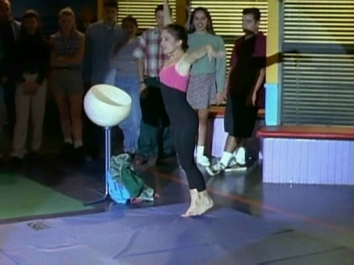 Amy Jo Johnson Gymnastics Routine Video From Power Rangers