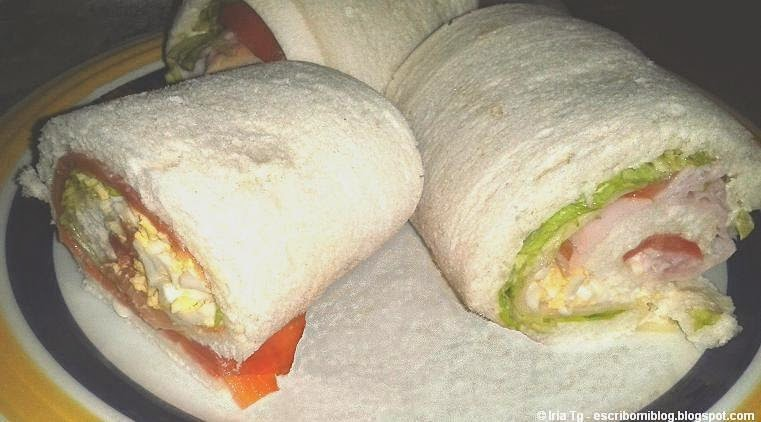 Rollo vegetal y rollo de salmón