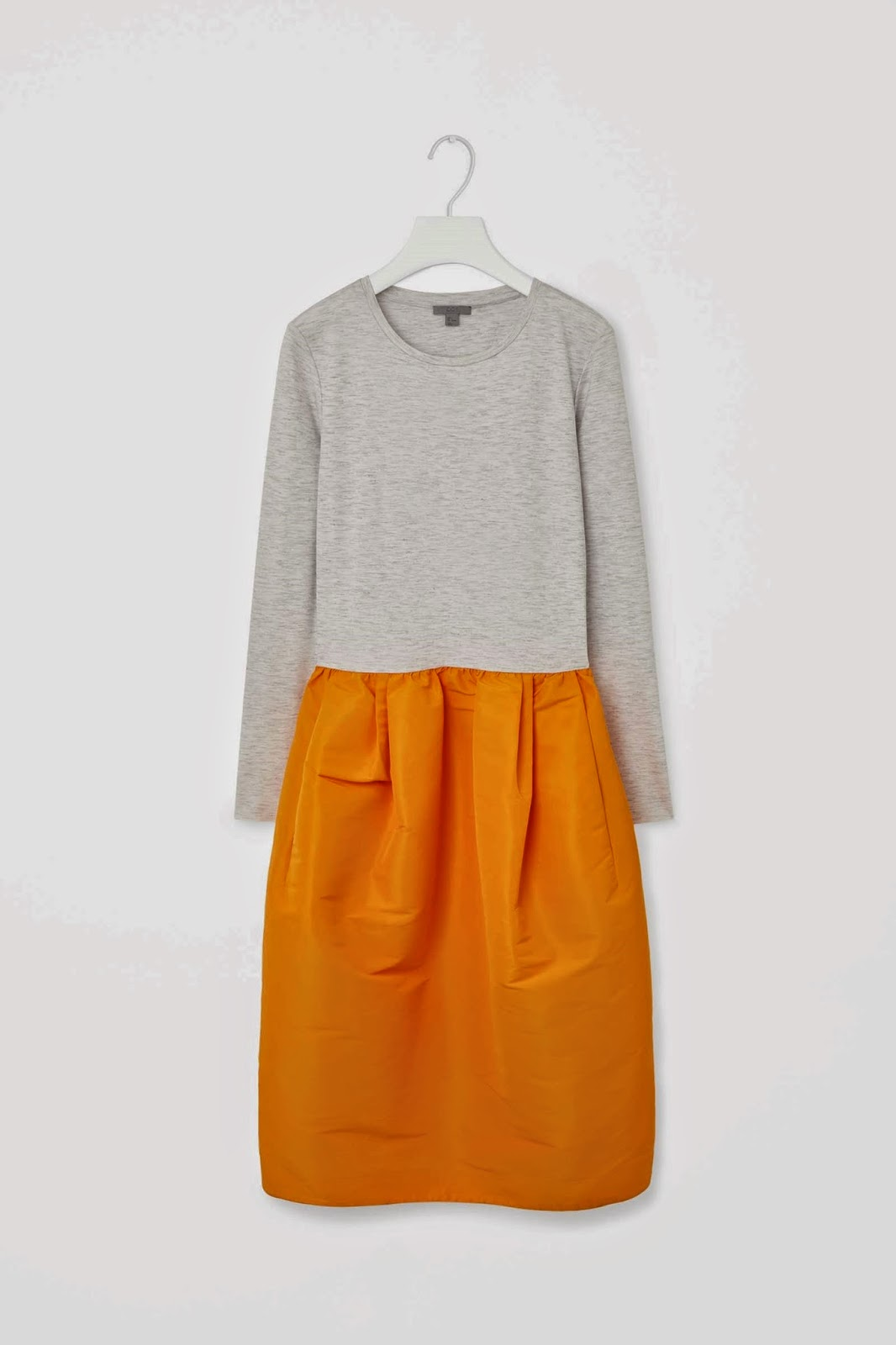 grey and orange dress,