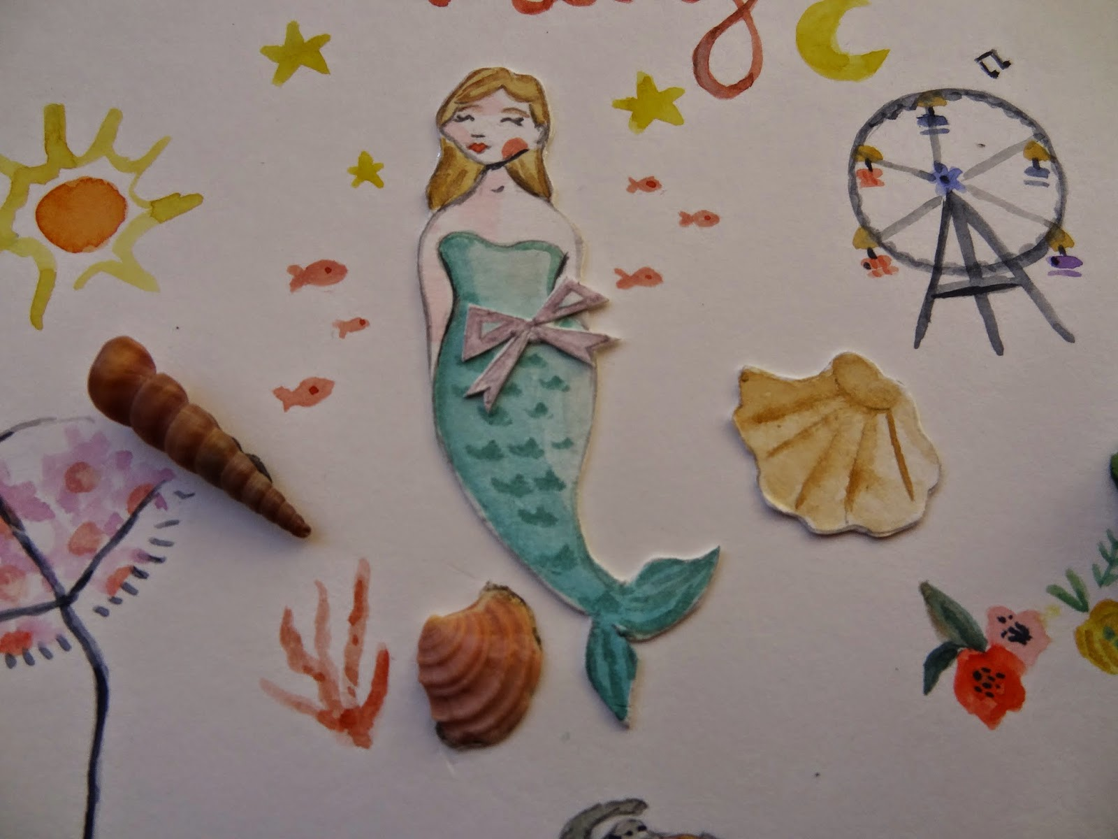 craft manualidades handmade mermaid sirenita diy