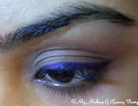 Faces Cosmetics Long Wear Eye Pencil in Purple+purple eyeliner+ long staying eyeliner+ eyeliner+ Faces cosmetics+ faces cosmetics online india+eotd