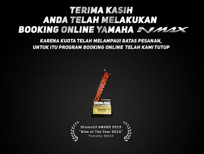 Online Booking Yamaha Nmax Non ABS Ditutup Hanya Dalam 12 Jam