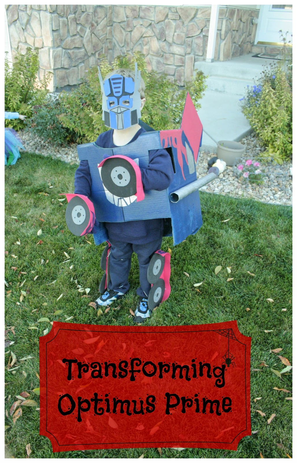 Kids Transforming Optimus Prime Costume