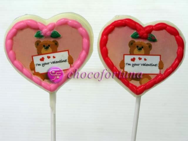 cokelat coklat lolipop edible love valentine