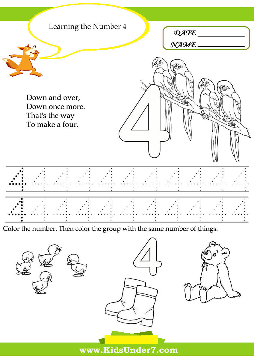 math worksheet : kids under 7 free printable kindergarten number worksheets : Printable Worksheets For Kindergarten Numbers