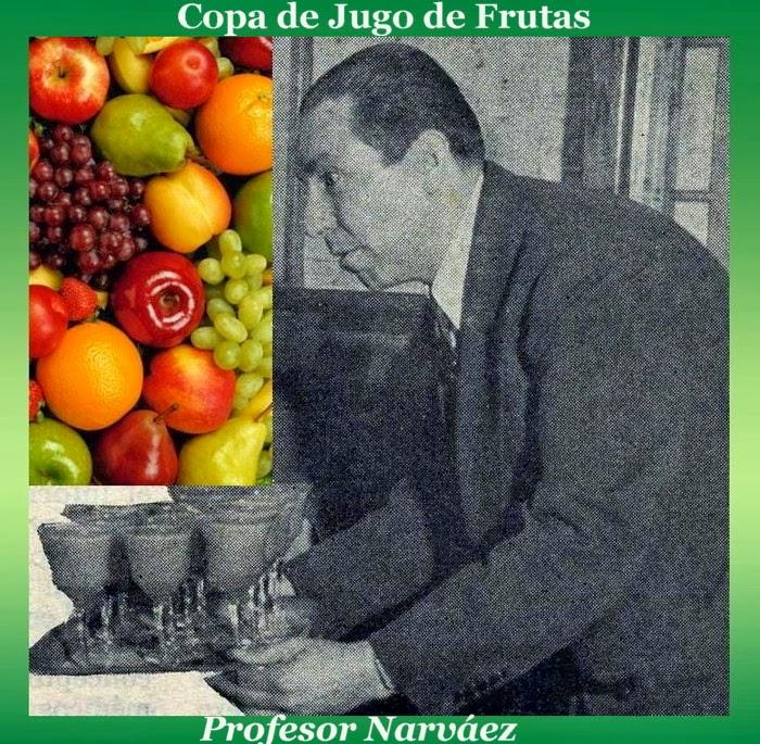 Copa de jugo de frutas por el profesor Narváez.
