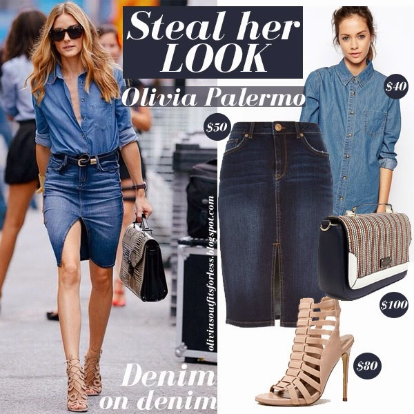 olivias outfits for less olivia palermo denim shirt and
