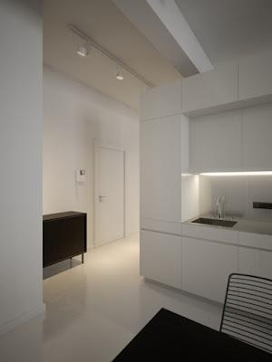Design de interiores de preto e branco
