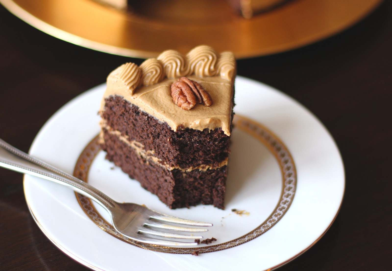 double chocolate layer cake chocolate and pear chocolate pear cake ...