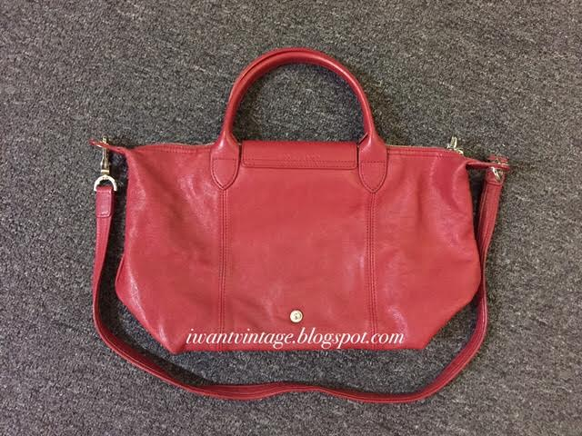 6a5316f5bdfc Longchamp Le Pliage Cuir Short Handle Small-Red
